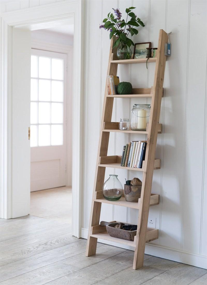 Hambledon Small Raw Oak Shelf Ladder Coates Warner