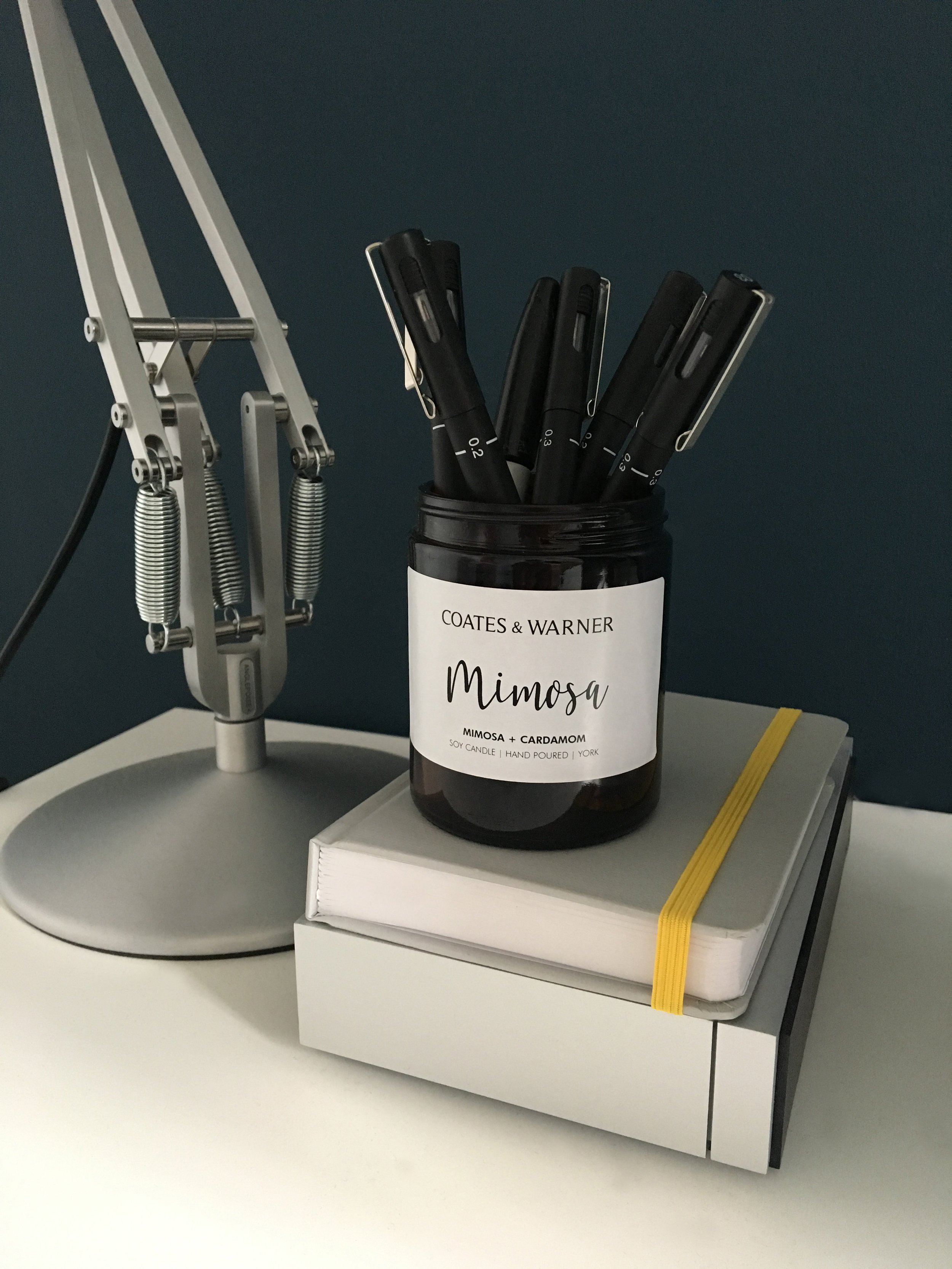 4. Desktop Tidy - Need a little tidy up at your desk? Keep your pens and pencils organised with our candle jars!