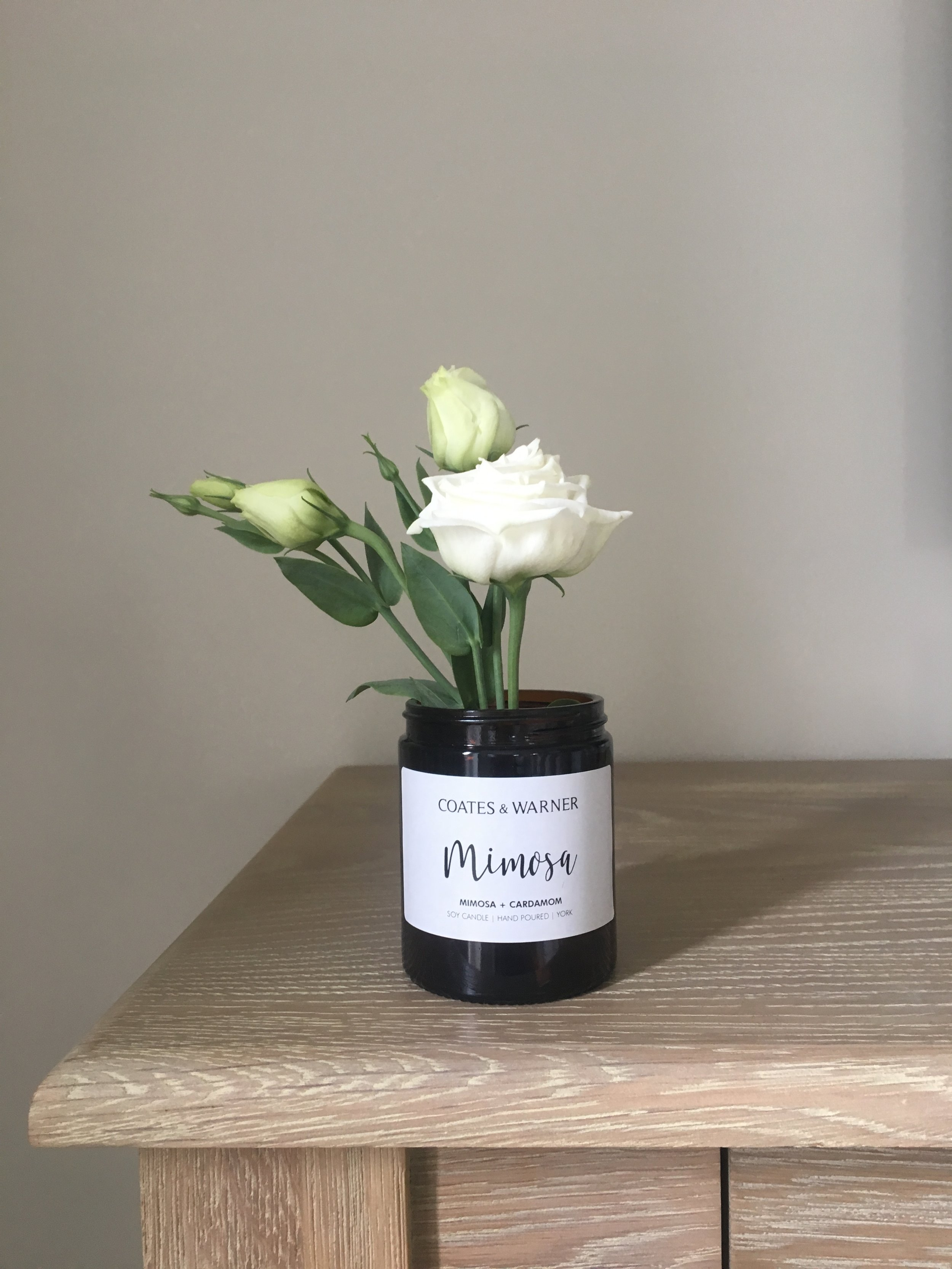 1. Flowers - One of the most simplest ways to reuse a C&W candle jar is to turn it into a vase! With clippings from your garden or small wild flowers on a country walk, it's a budget-friendly way to indulge in fresh flowers.