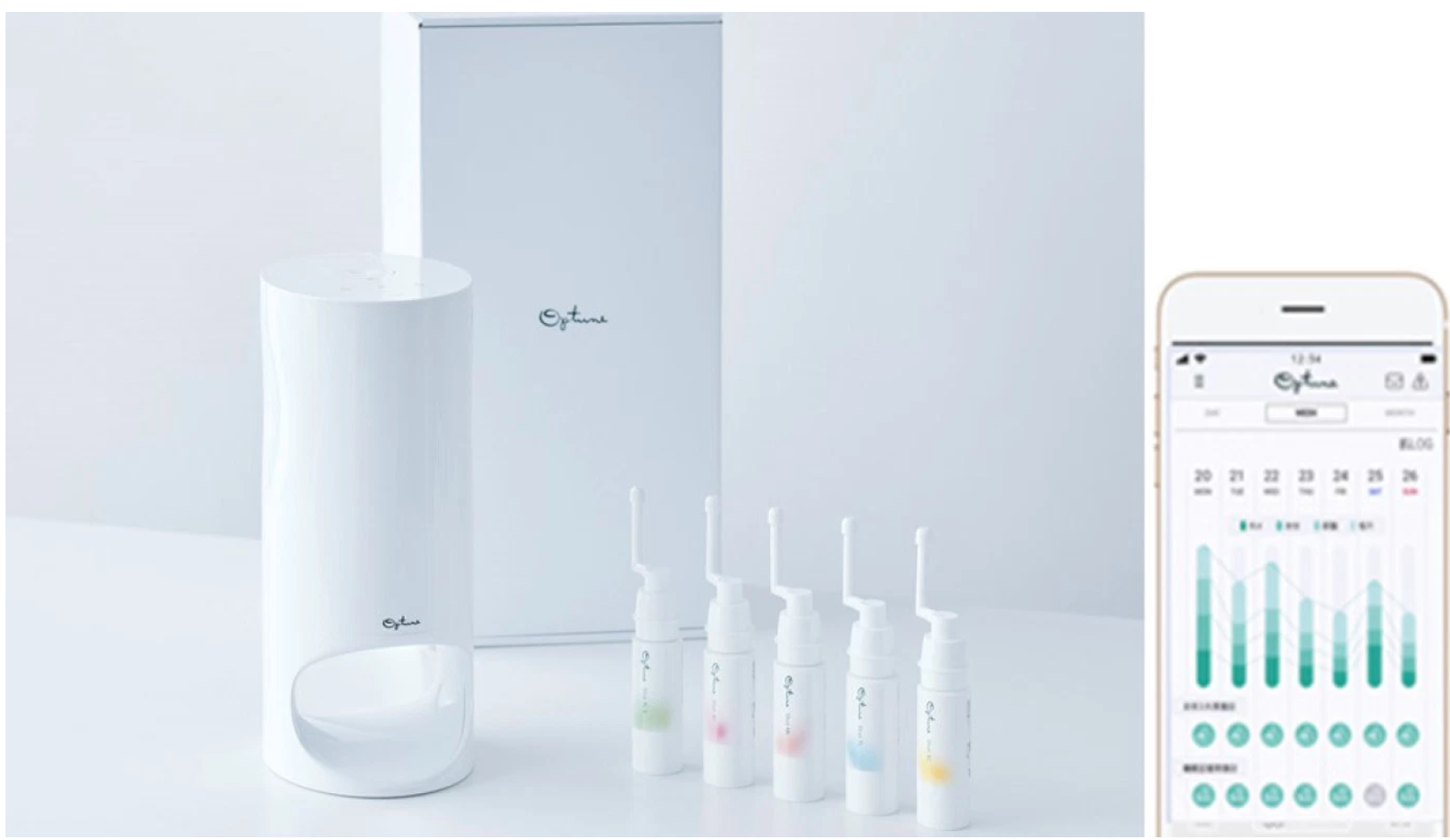 Optune, it's one of the first Internet of Things smart appliance systems in the beauty space combining an intelligent app with a physical dispenser. -