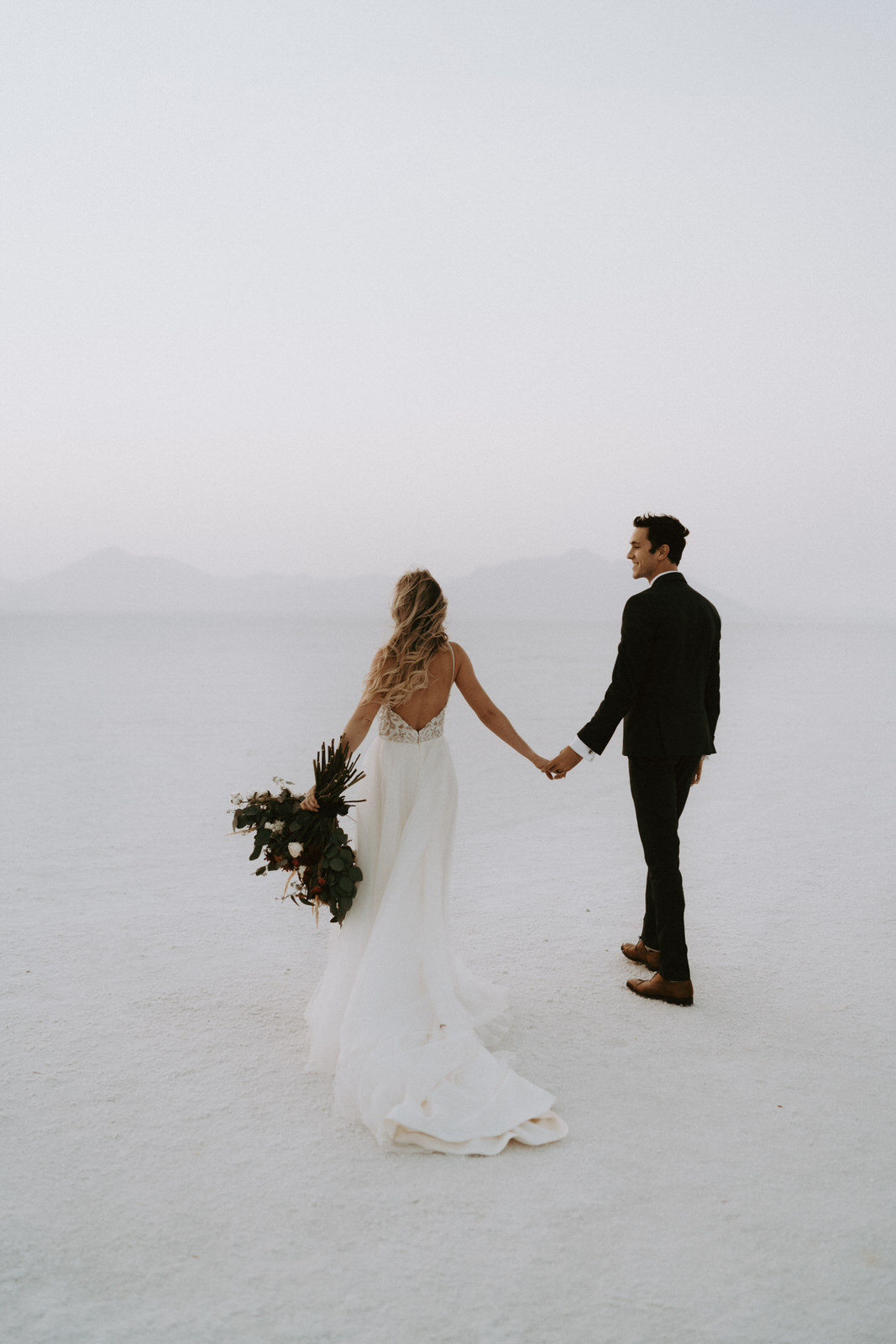 Bonneville Salt Flats Elopement- Utah Elopement Adventurous Wedding Photographer-264.jpg