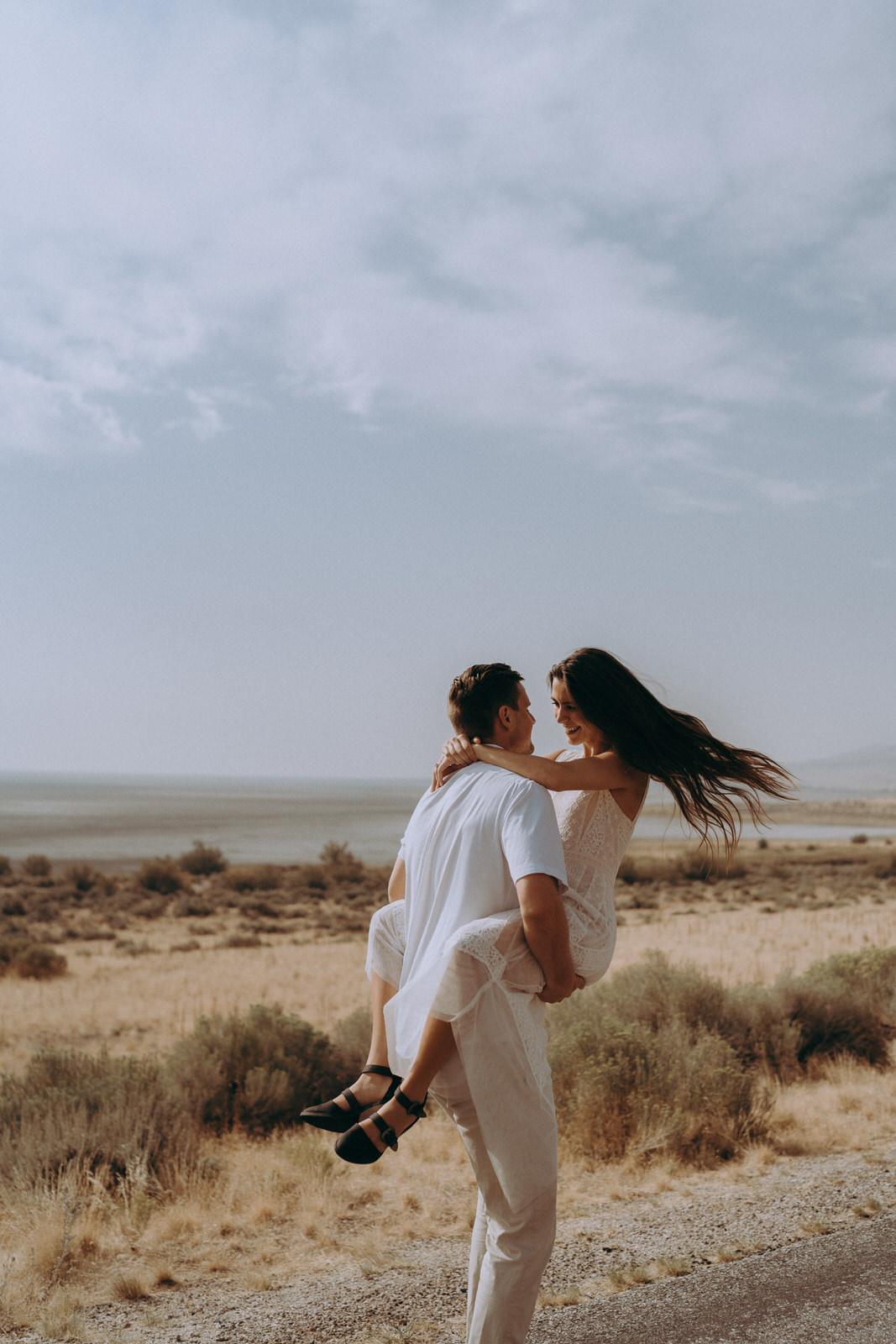 Antelope Island Engagement Photos- Utah Wedding Photographer- Gabrielle and Ethan-495.JPG