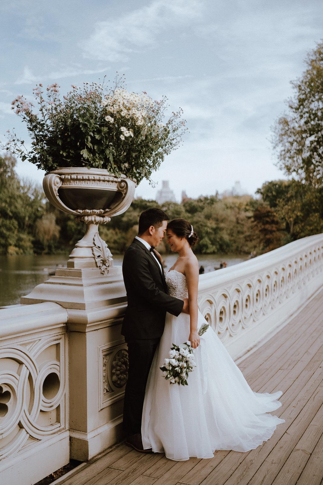 Central Park Elopement Photos-Bow Bridge-Michelle Gonzalez Photography- New York Wedding Photographer-2.jpg
