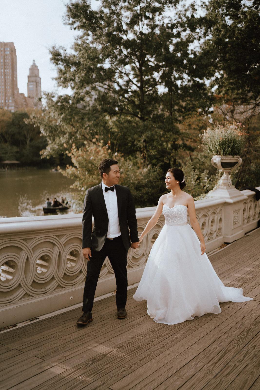 Central Park Elopement Photos-Bow Bridge-Michelle Gonzalez Photography- New York Wedding Photographer-49.jpg