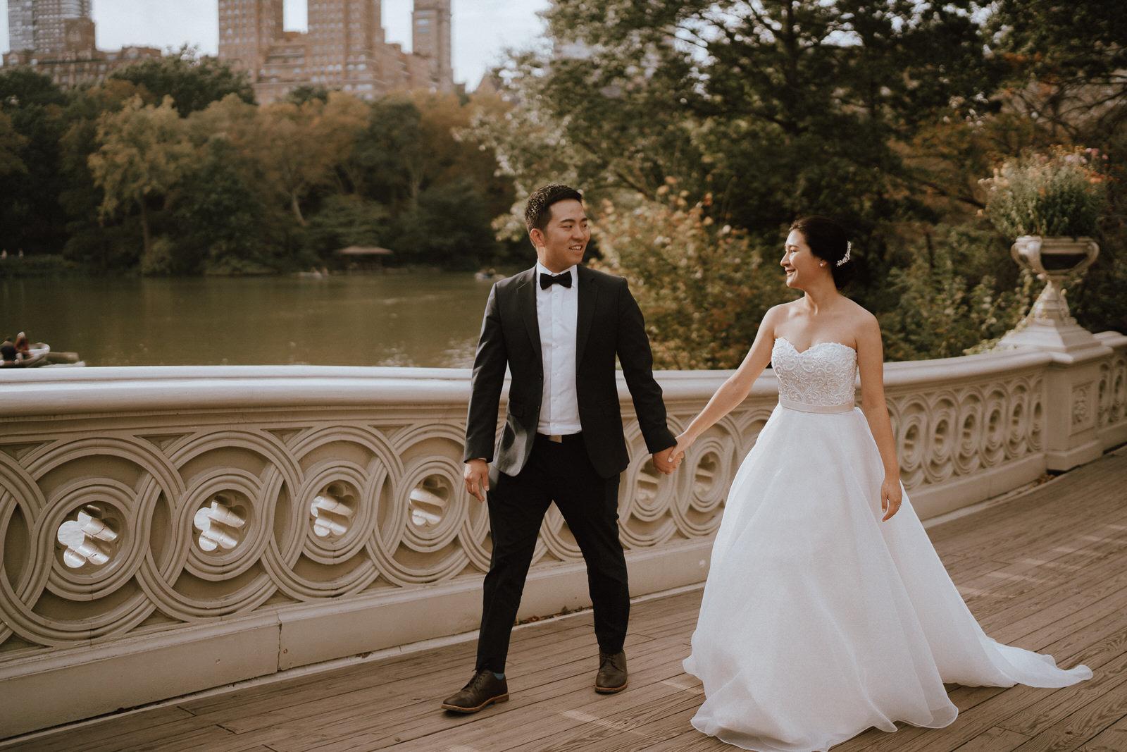 Central Park Elopement Photos-Bow Bridge-Michelle Gonzalez Photography- New York Wedding Photographer-53.jpg