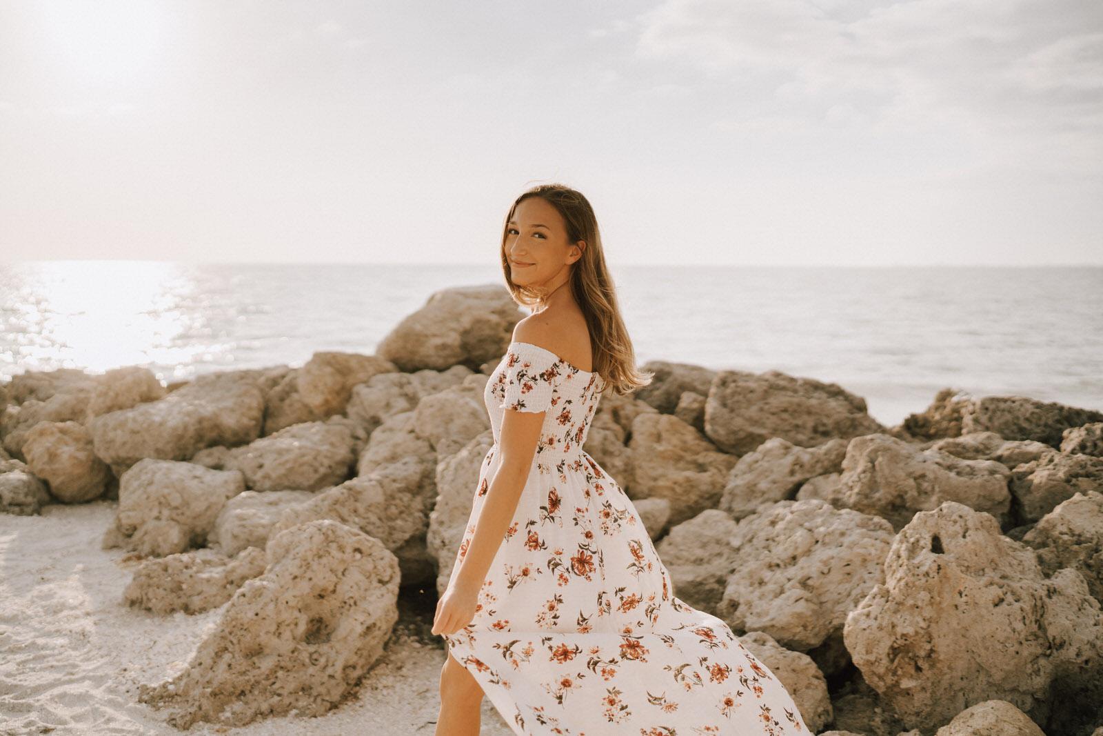 Fort Myers Senior Photos on Bonita Beach - Michelle Gonzalez Photography - Sammie-2.JPG
