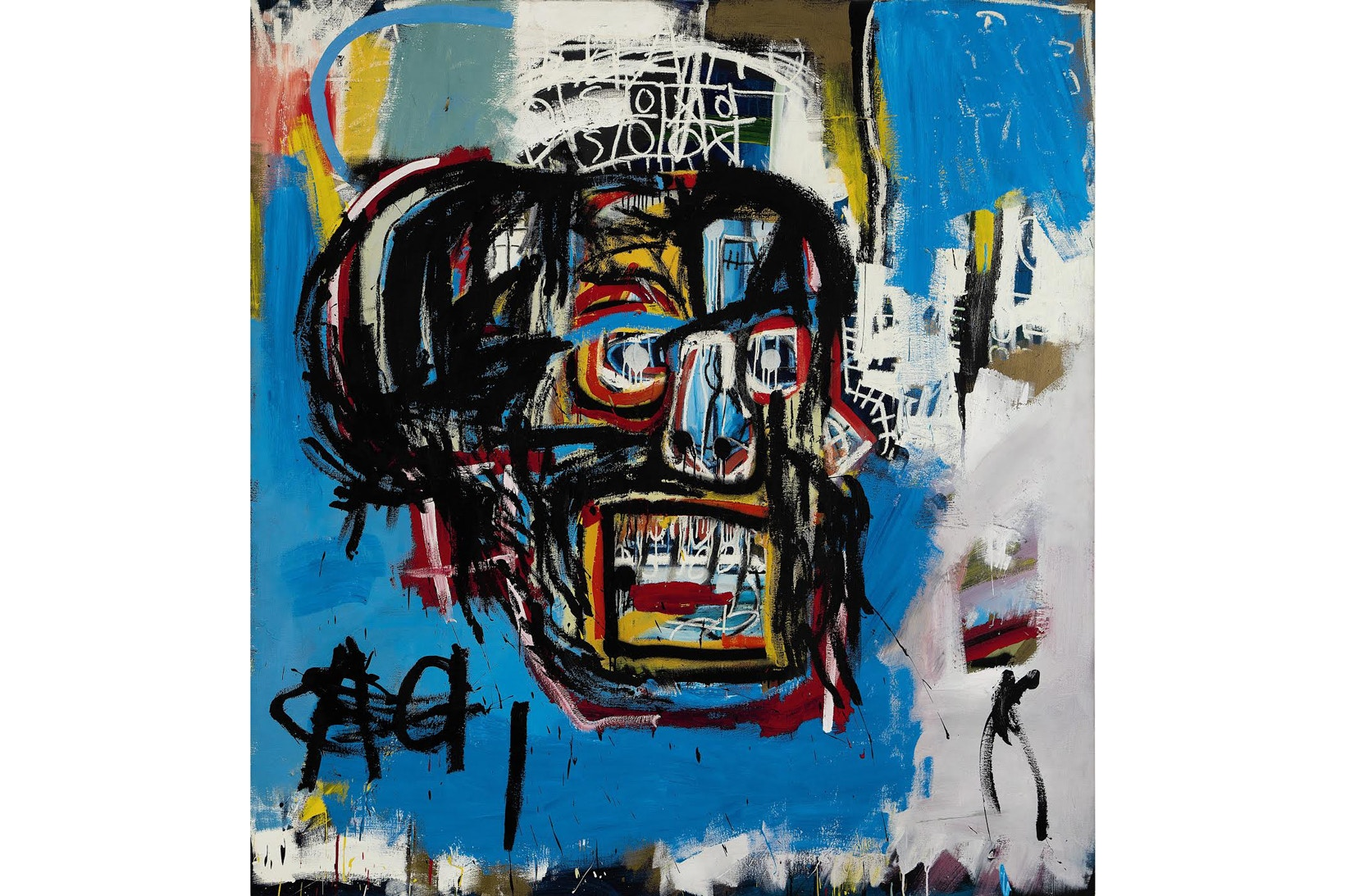 """Do you remember this piece that broke records last year? Maybe not, This Michel Jean Basquiat untitled art work sold for a record breaking 110 Million to private collector and fashion entrepreneur Yusaku Maezaw.This piece is set to make its way back to New York at the Brooklyn Museum for a special exhibit called """"One Basquiat"""" on display from anuary 26 through March 11, 2018.. Do you like Basquiat? Are you familiar with is work? leave a comment below let me know what you think"""