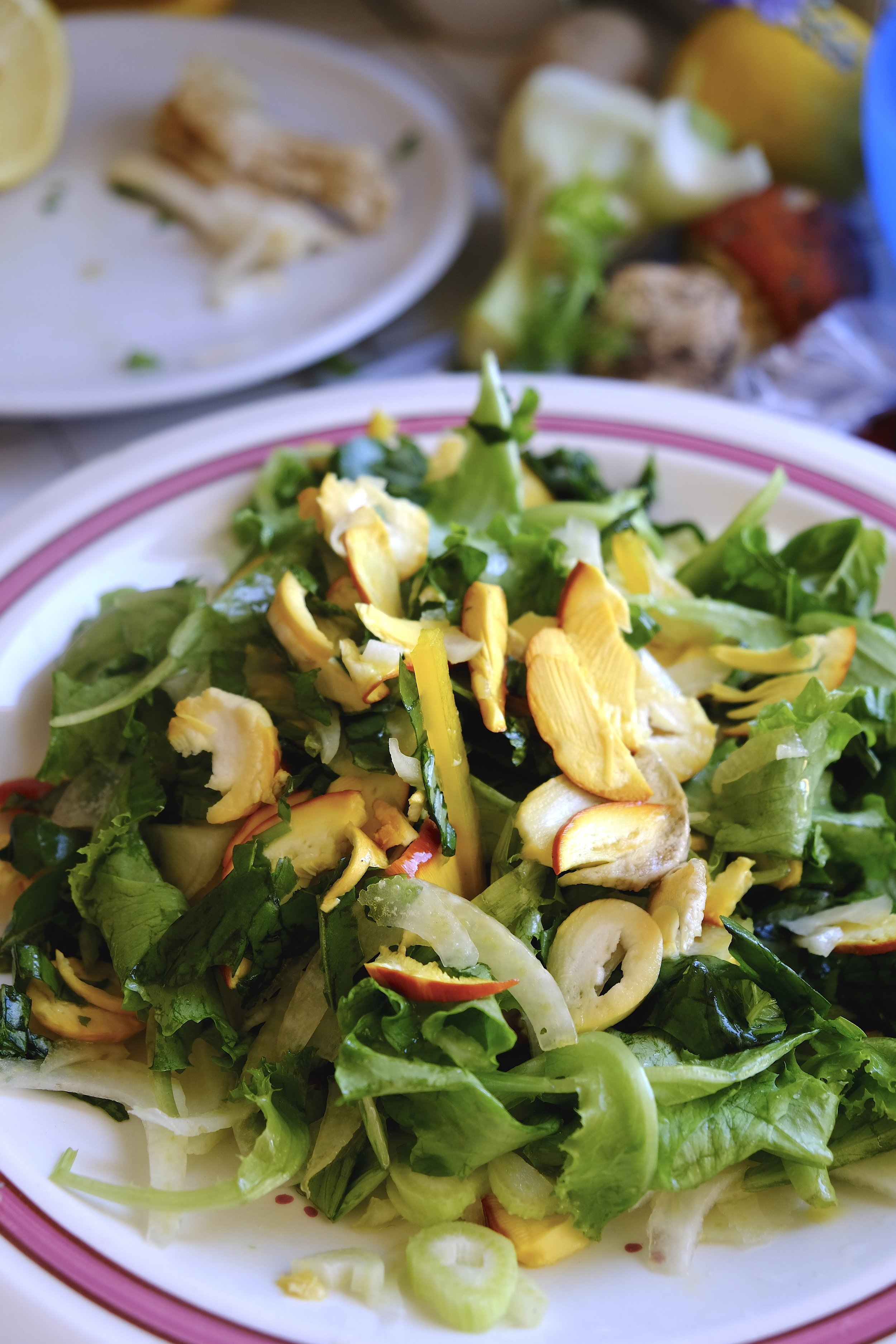 Mix salata cu fenicul porcini si busuioc.JPG