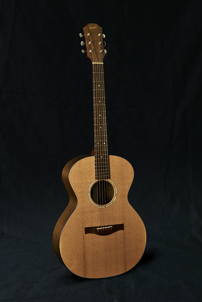 E14 - Ovangkol back and sidesDouglas Fir topIndian Rosewood fingerboardBurl Maple soundholeIndian Rosewood bindingTortoiseshell resin bridge pinsGrover nickel tunersNitrocellulose satin lacquer finishAvailable from Intersound Guitarshttp://www.intersoundguitars.co.uk£2,695