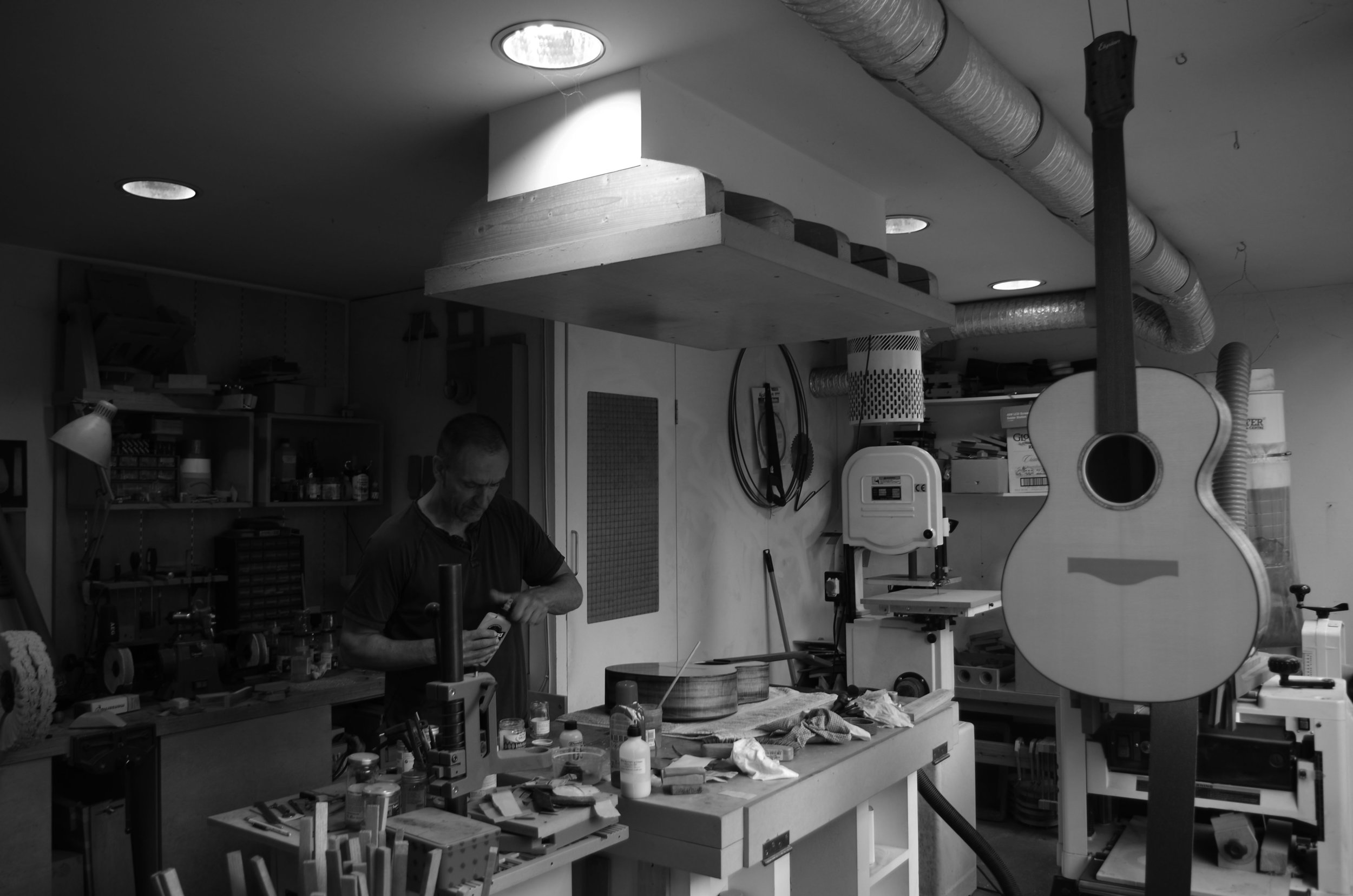On the bench at Elysian Acoustics -