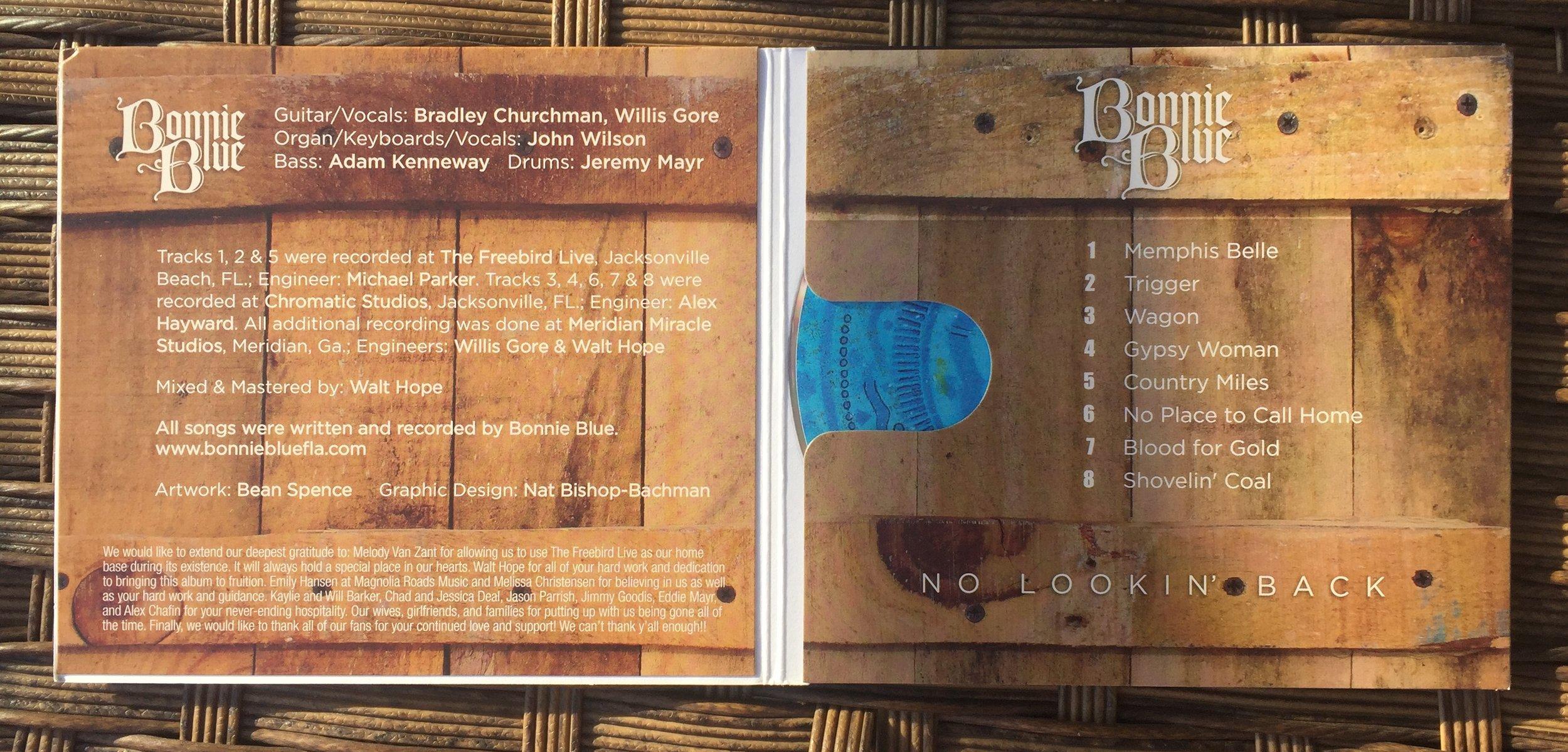 Bonnie Blue No Lokkin Back album tracks details  .jpg