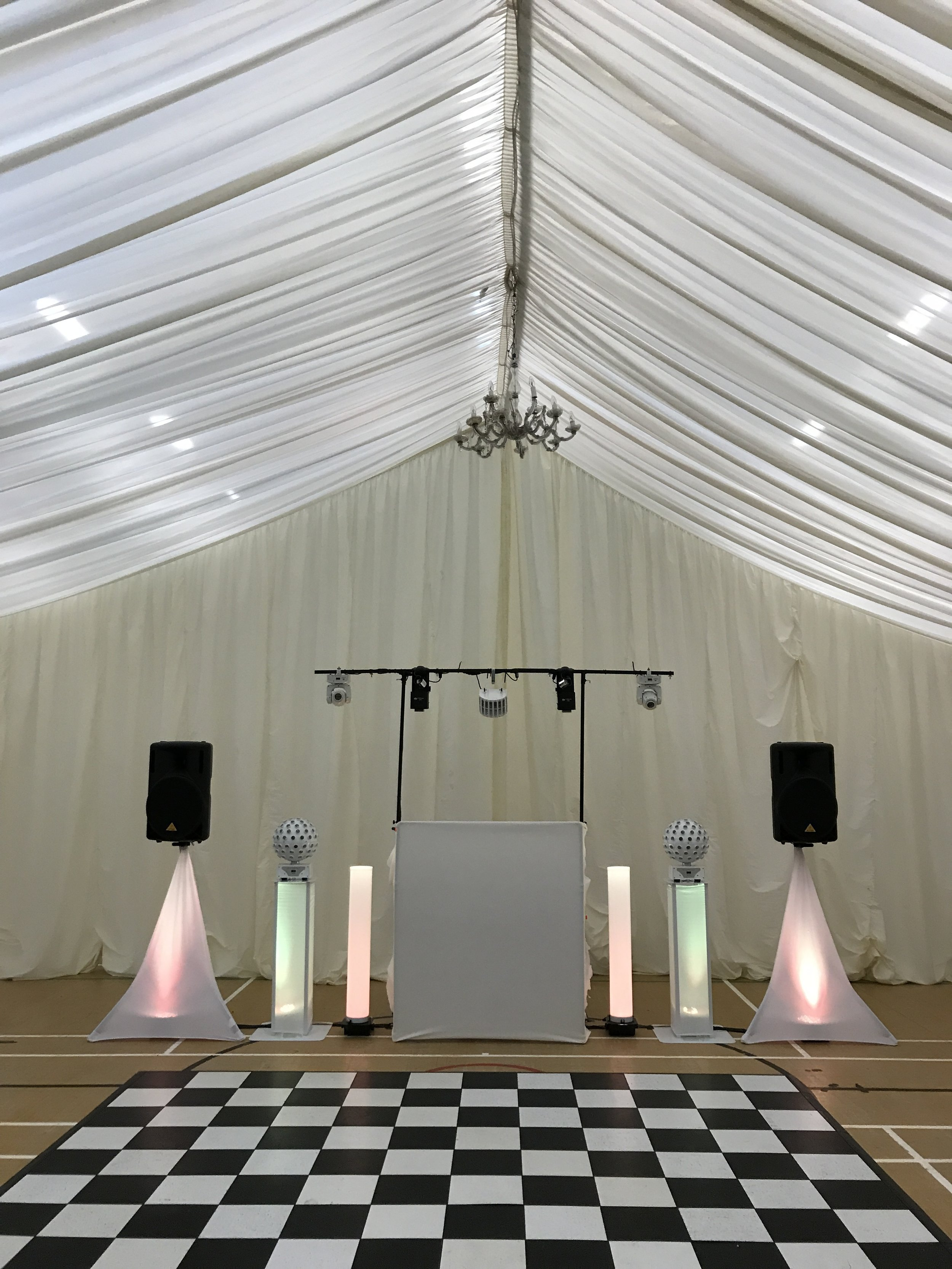 Black and White Dance floors available on request - The Grand Quee Suite, Lordswood Leisure Centre, Kent