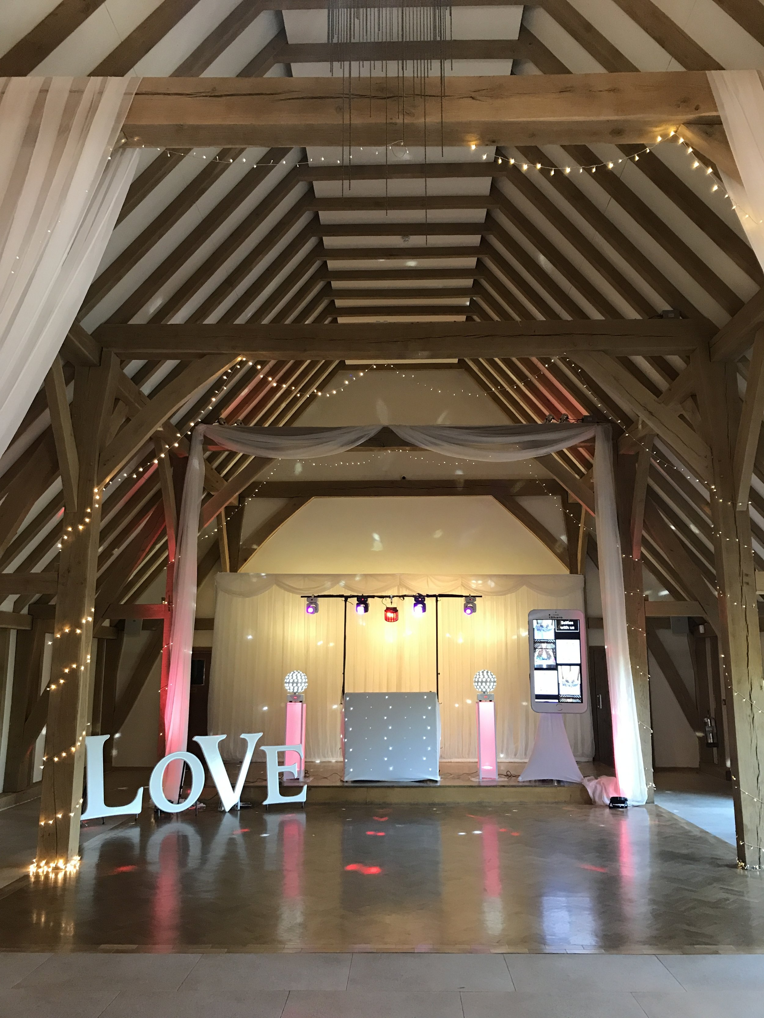 Wedding DJ, Love Letters & iShare at The Old Kent Barn, Swingfield, Folkestone,