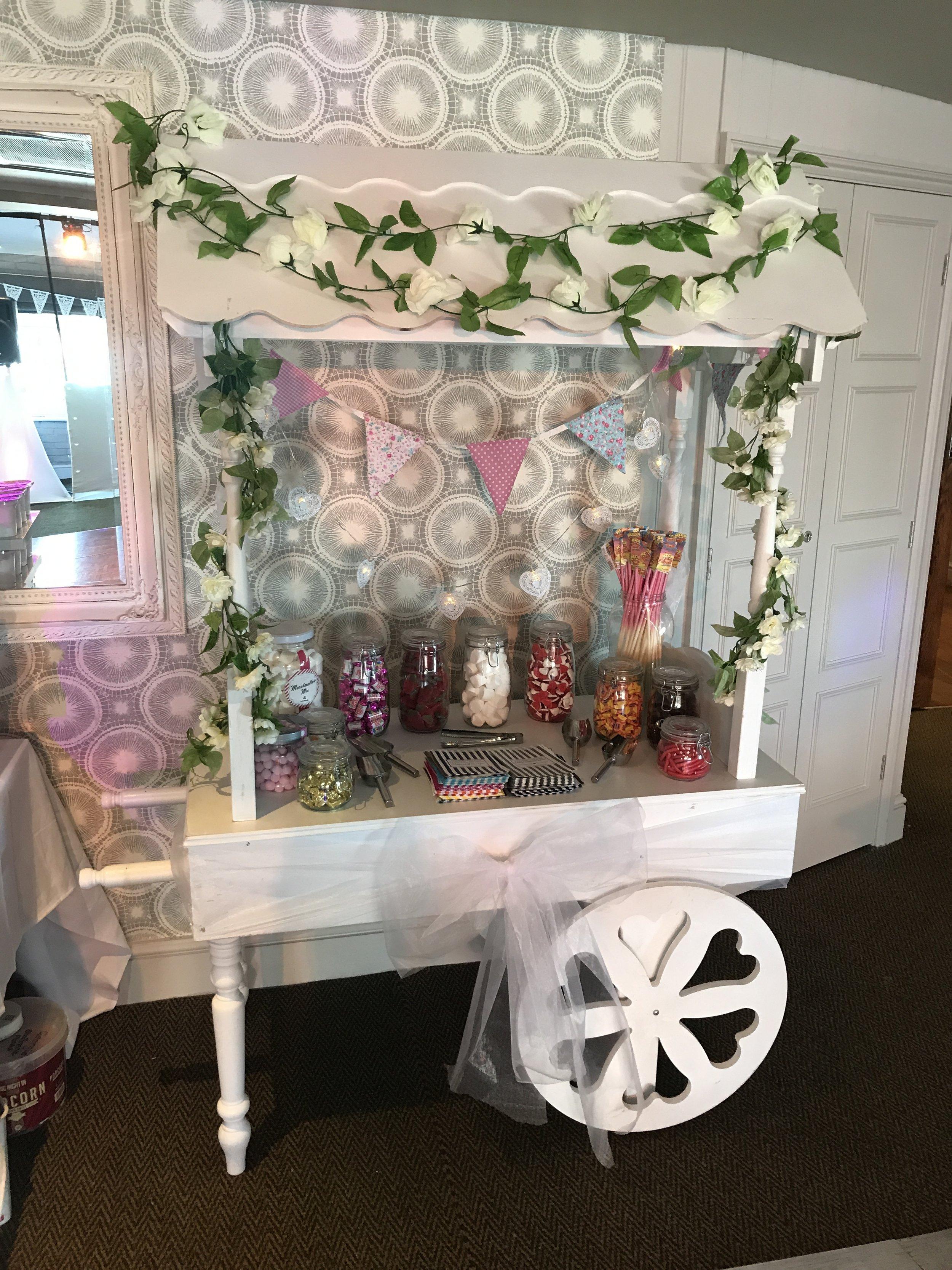 Candy Cart at Botany Bay Hotel, Broadstairs, Kent