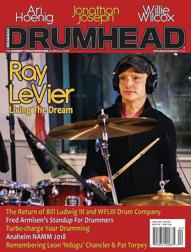 Ray's feature in DRUMHEAD magazine