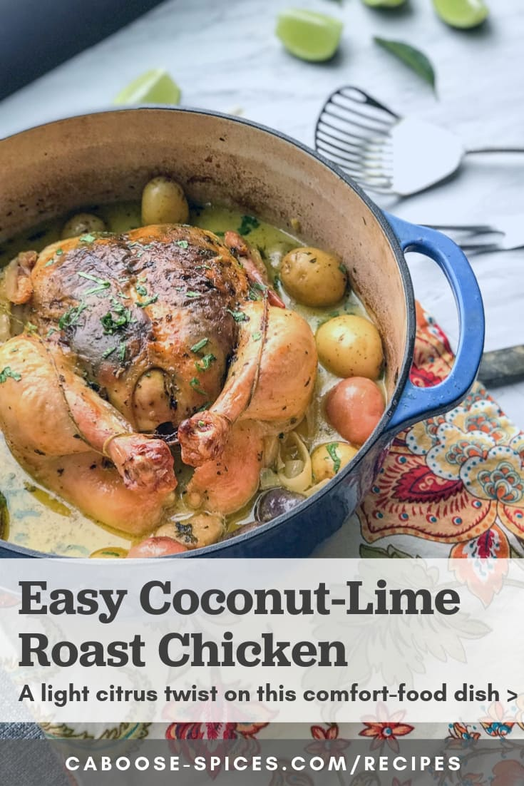 Easy Dutch Oven Chicken and Potatoes with Coconut-Lime Sauce