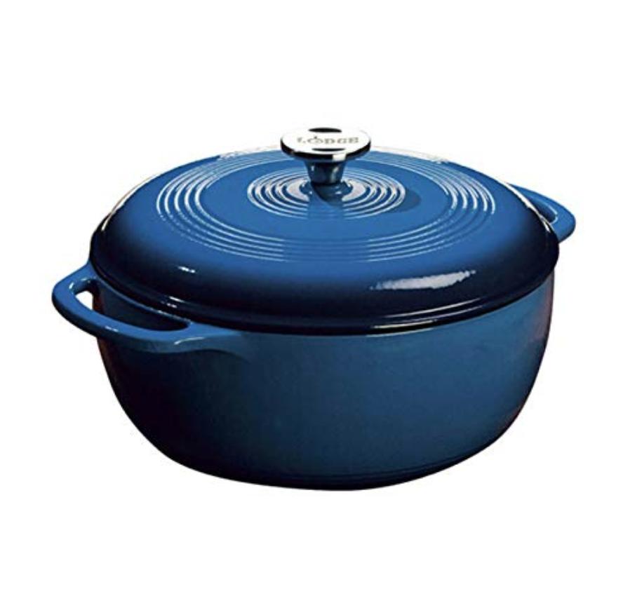 Lodge 6 qt Enameled Cast Iron Dutch Oven