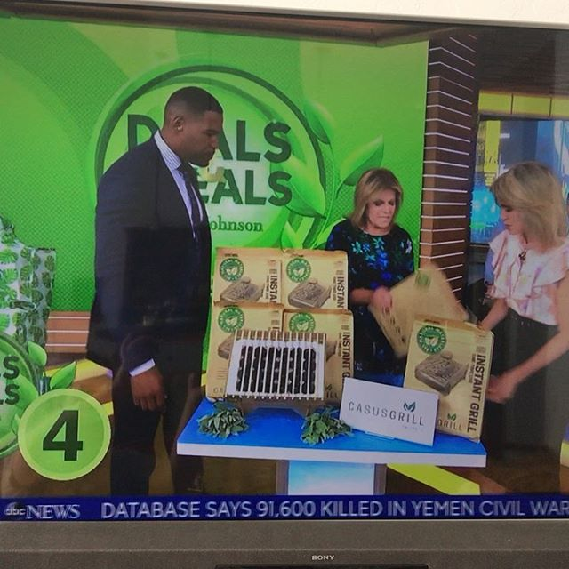 "Maybe you just saw the Casus Grill on @goodmorningamerica? We have them in stock and ready to ship on our website! And through tomorrow, June 20, we'll include a free 1 oz tin of your favorite seasoning with your purchase. Just tell us which flavor you'd like in the message at checkout.  Swipe left and tap ""view products"" to buy."