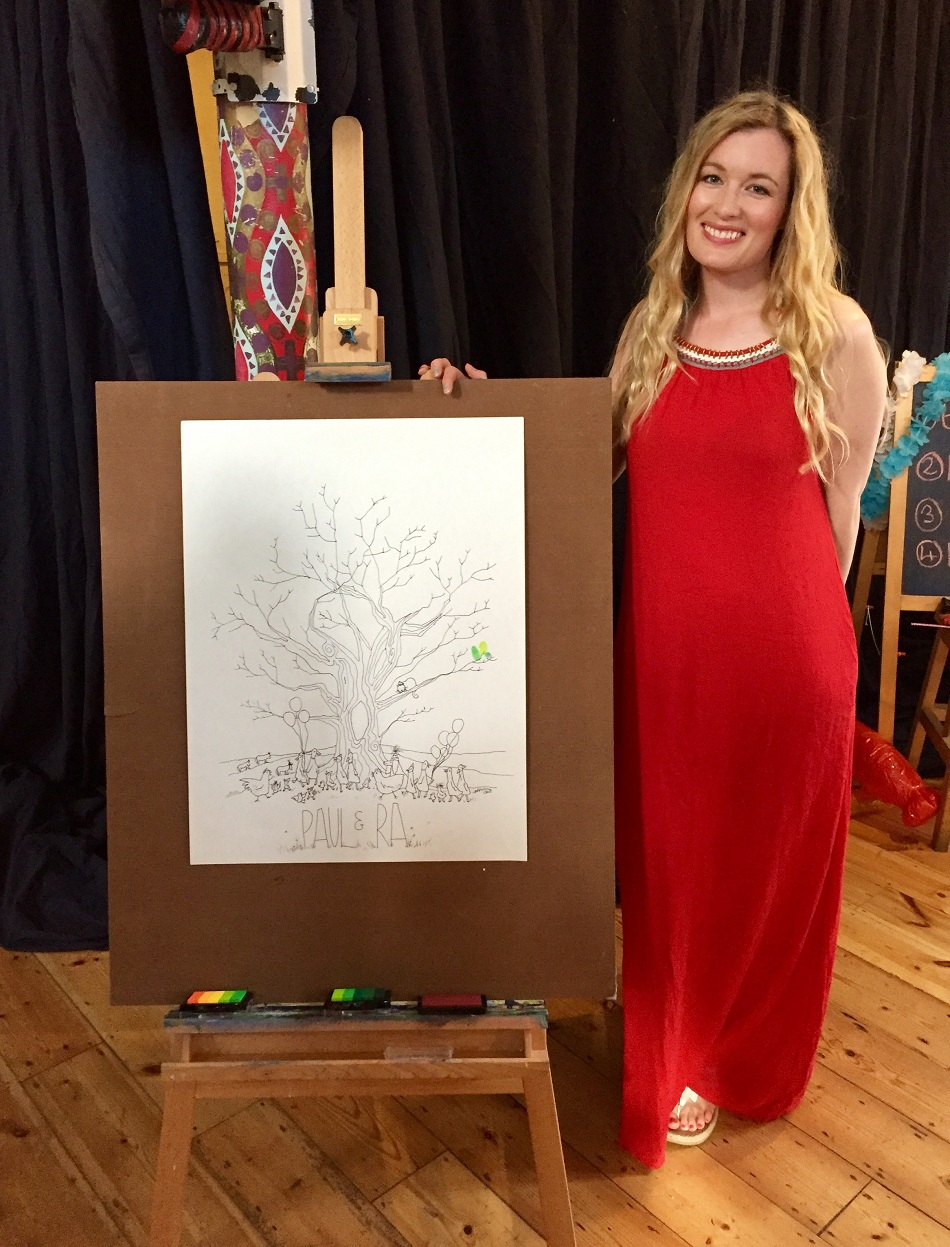 rebecca with one of her pieces.jpg