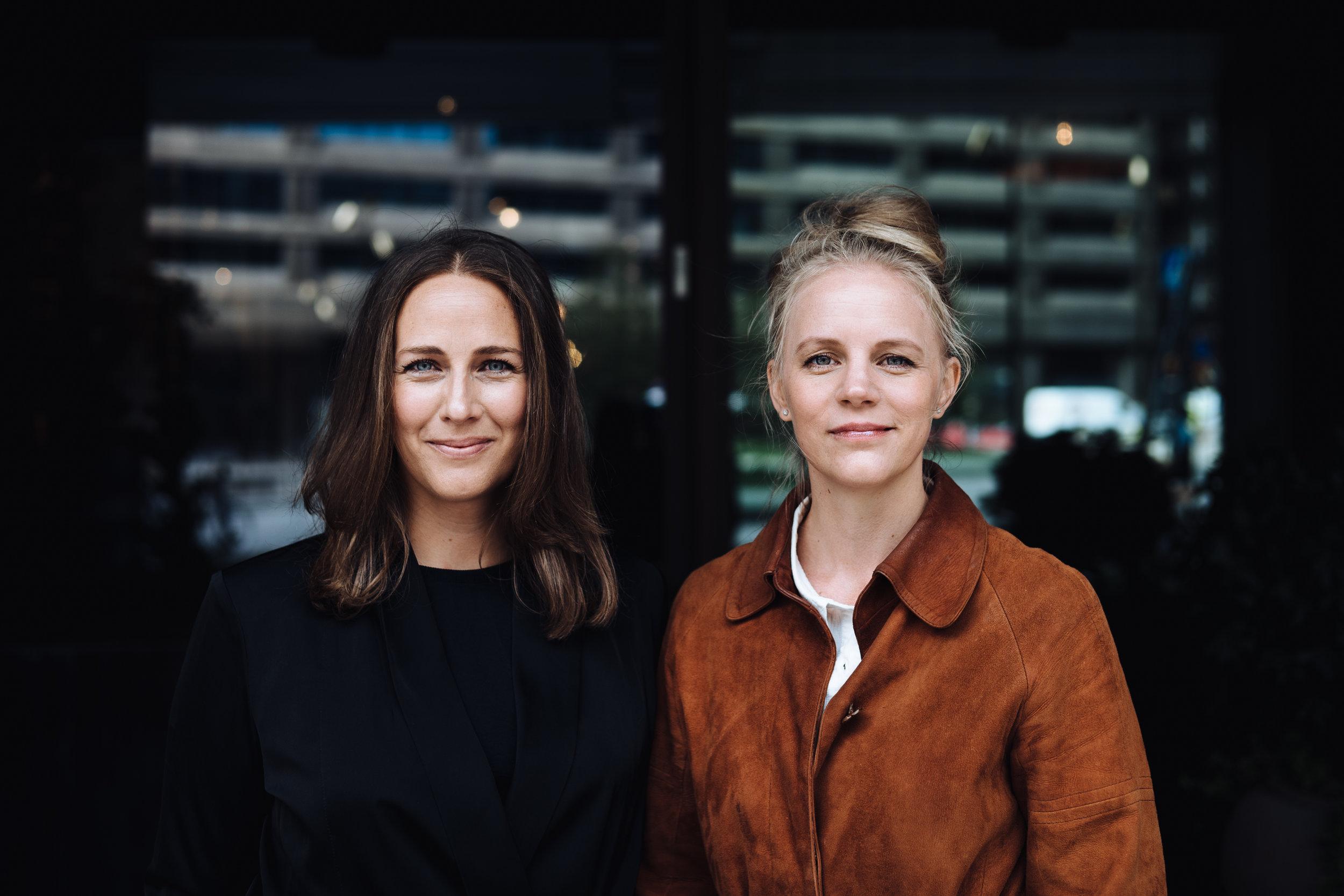 Elsa Lantz och Jenny Holmström, medgrundare av Porrfri Barndom. Fotograf:  Abraham Engelmark