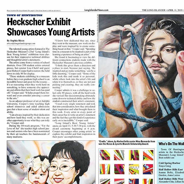 Honored to be interviewed by @longislandernews about the LI Best show I juried for the @heckschermuseum #hmalibest #heckschermuseum #robyncooperart