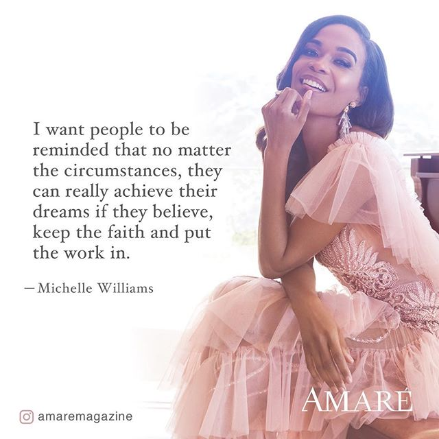 She Believed She Could so She Did  Get your copy of @amaremagazine  Www.amaremagazine.com  #Amarémagazine #secondyearanniversary #BelieveIssue #MichelleWilliams