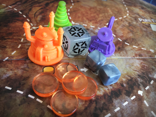 A variety of well-crafted components add to the Alien Frontiers experience