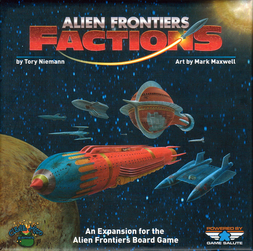 Take control of one of eight different Factions that give you unique benefits as you work to colonize Planet Maxwell. Factions also adds Agendas to the game for extra scoring opportunities, new Alien Tech to discover, and has everything you need to add a fifth player to the game!