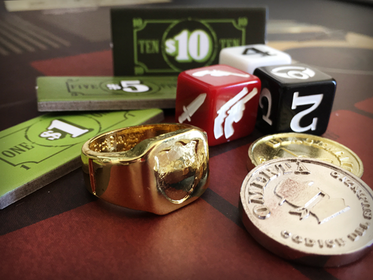 Beautiful components - including a wearable Capo ring - make Nothing Personal a game experience unlike any other