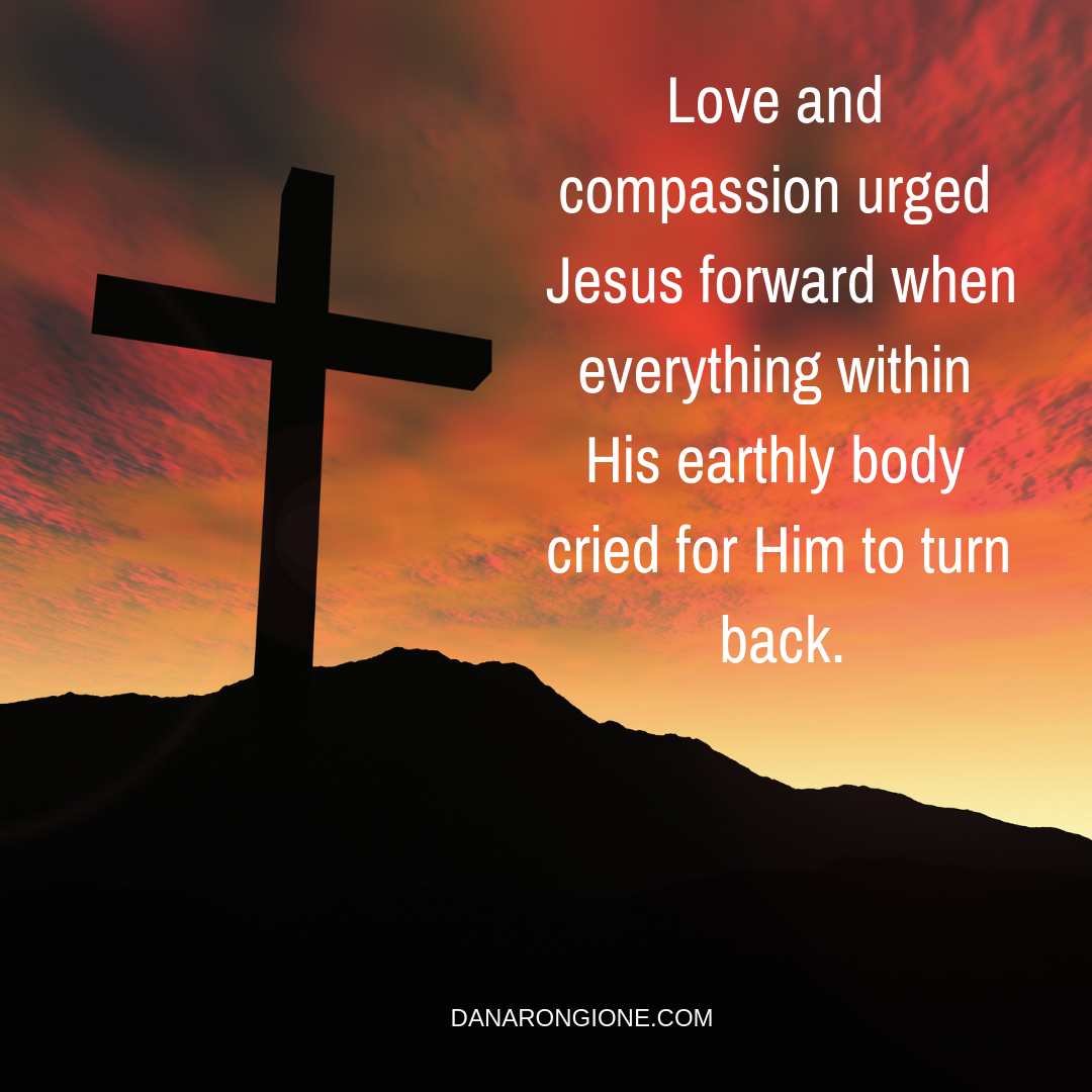 Love and compassion urged Jesus forward when everything within His earthly body cried for Him to turn back..png