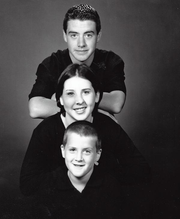 Daniel (13), Lindsay (14) and Matthew (9) 1998