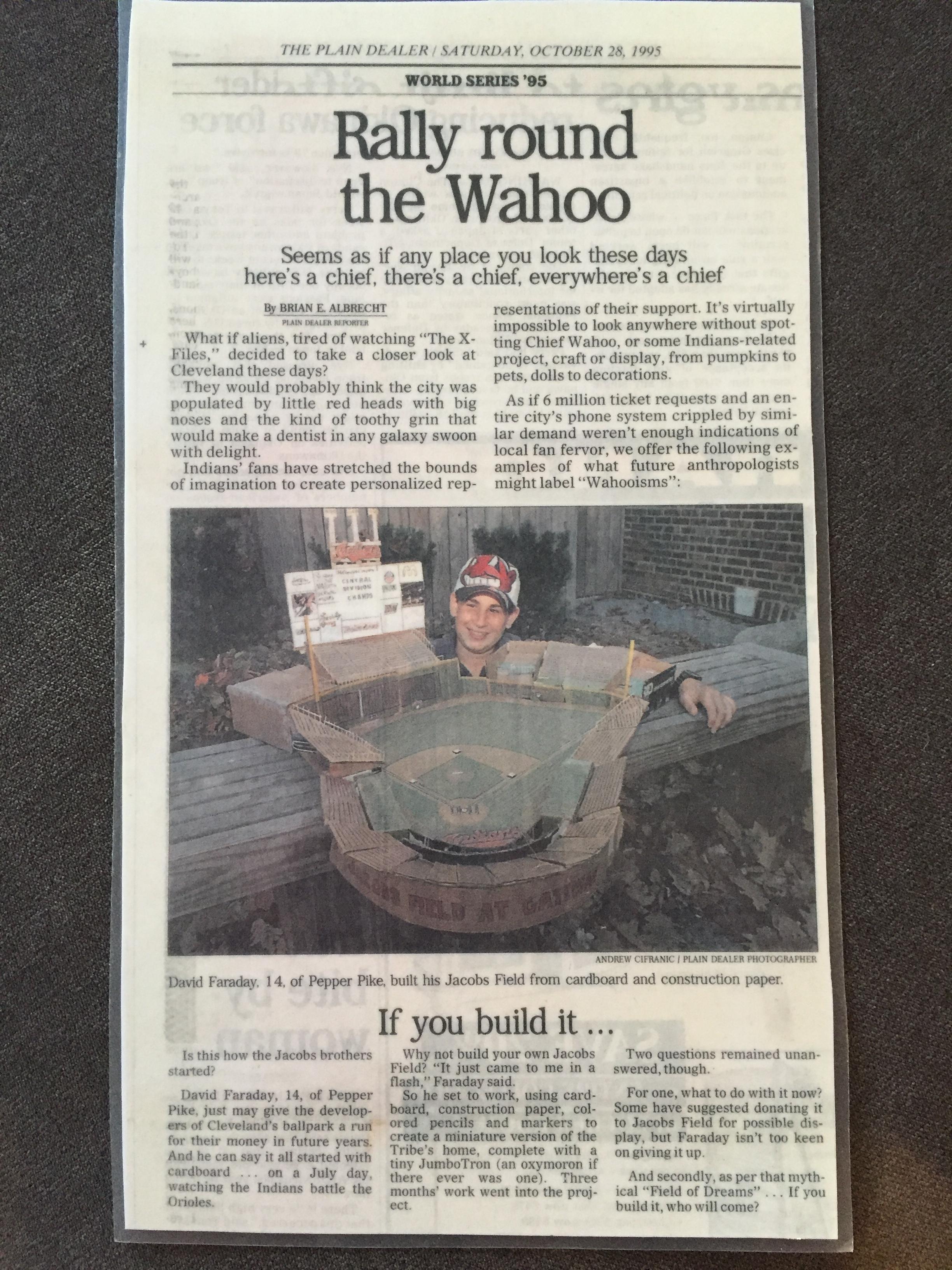 Cleveland Plain Dealer, October 1995