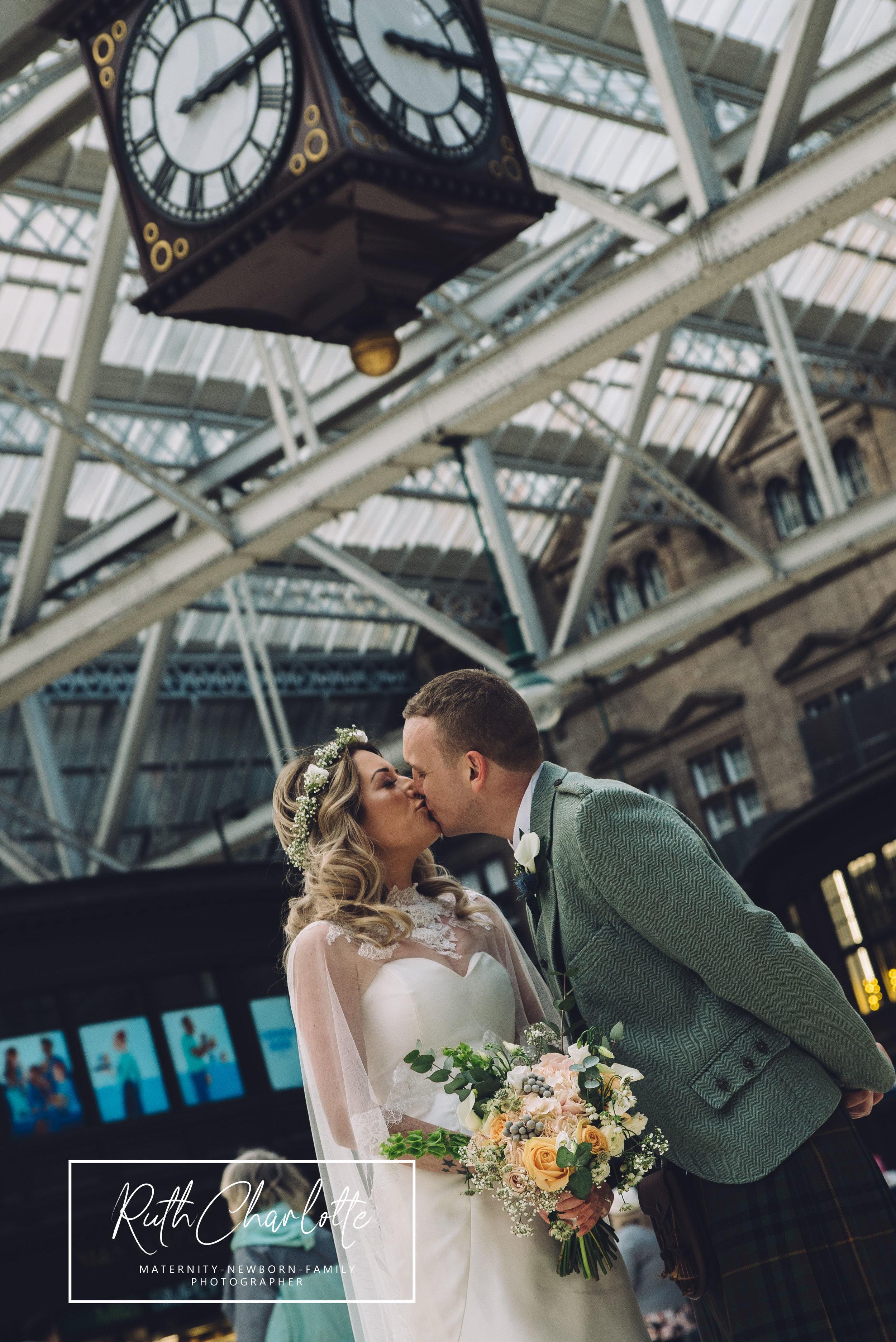 wedding photographer ayrshire grand central hotel Glasgow