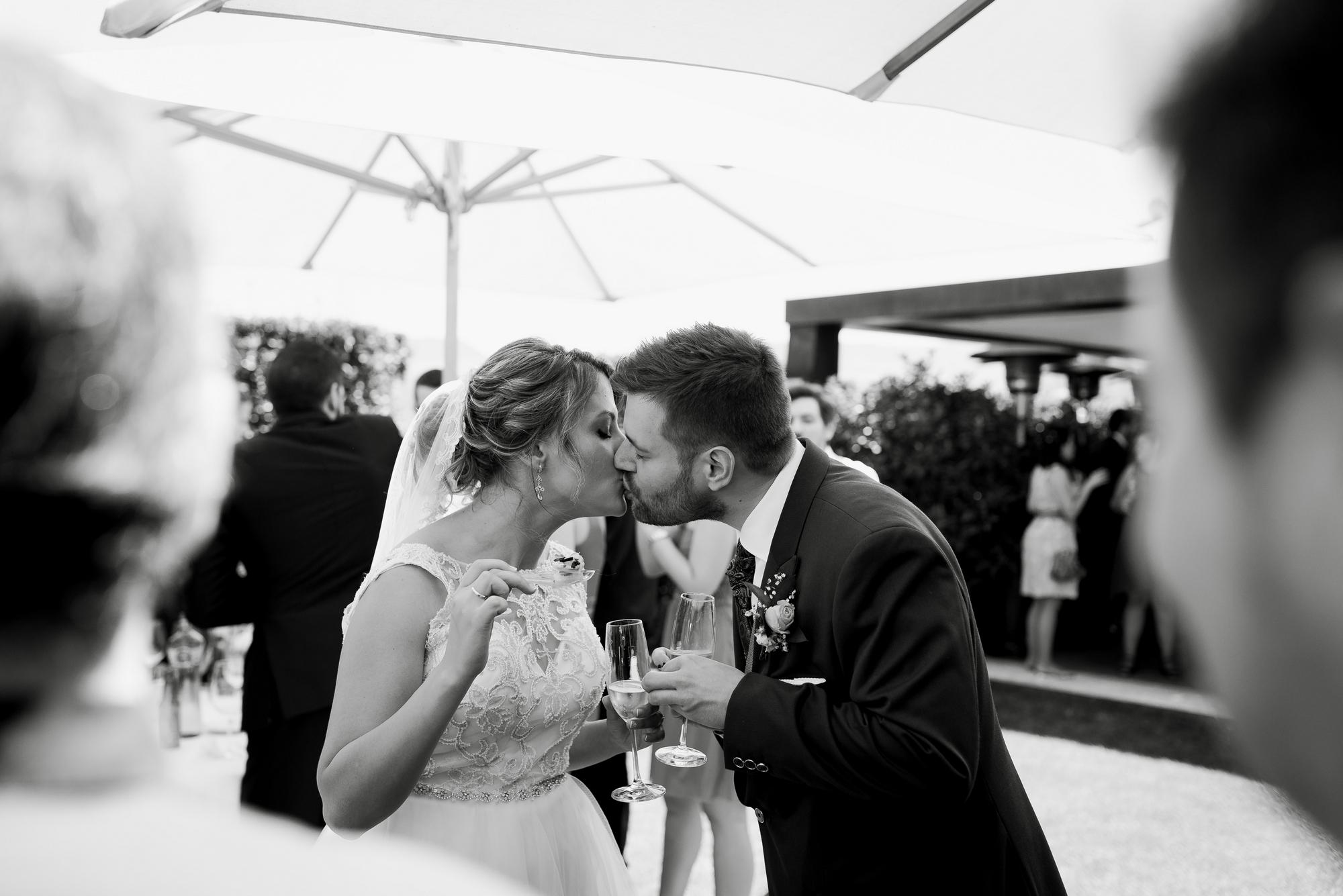 novios boda logroño restaurante barros cóctel