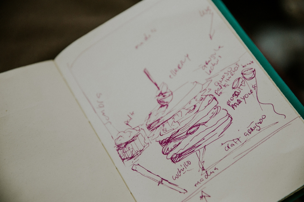 apunte cuaderno diseño fotografia gastronomica la bomba