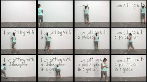Jan Estep, video stills from  On Certainty , 2010, single-channel vdeo, 4:17 minutes.