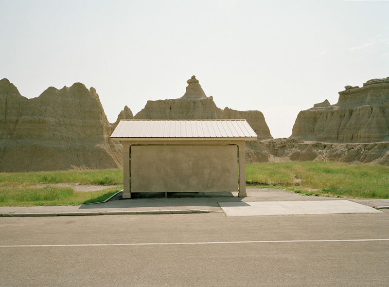 Andrew Schroeder,  Badlands Structure - Near Badlands National Park , 2008.