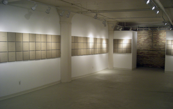 """Exhibition view, """"Jan Estep, Hot Air Sincerely,"""" Barrow and Juarez Gallery, Milwaukee, May 2007"""