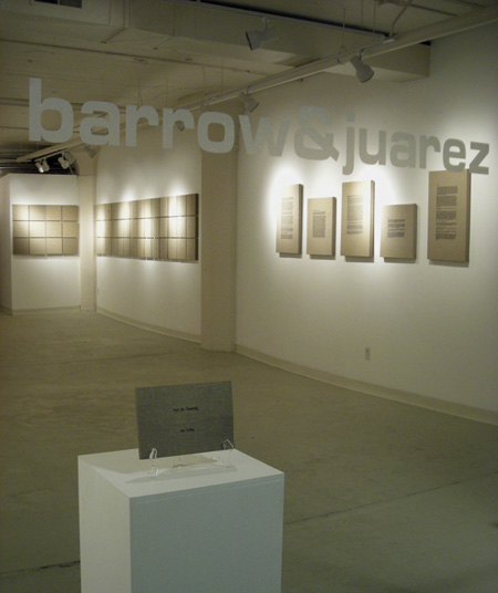 """Exhibition view, """"Jan Estep, Hot Air Sincerely,"""" Barrow and Juarez Gallery, Milwaukee, May 2007."""