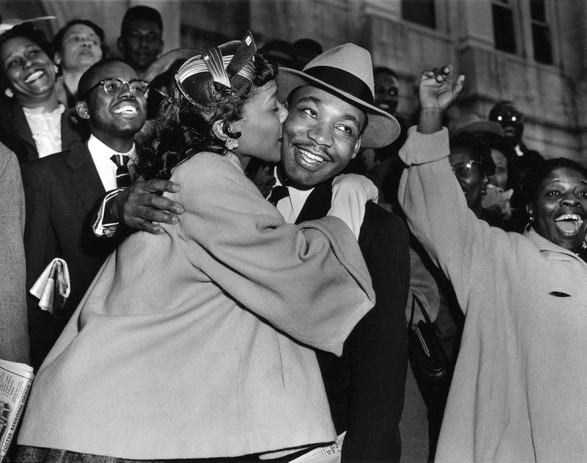 Martin Luther King Jr. and Coretta Scott King, his wife.