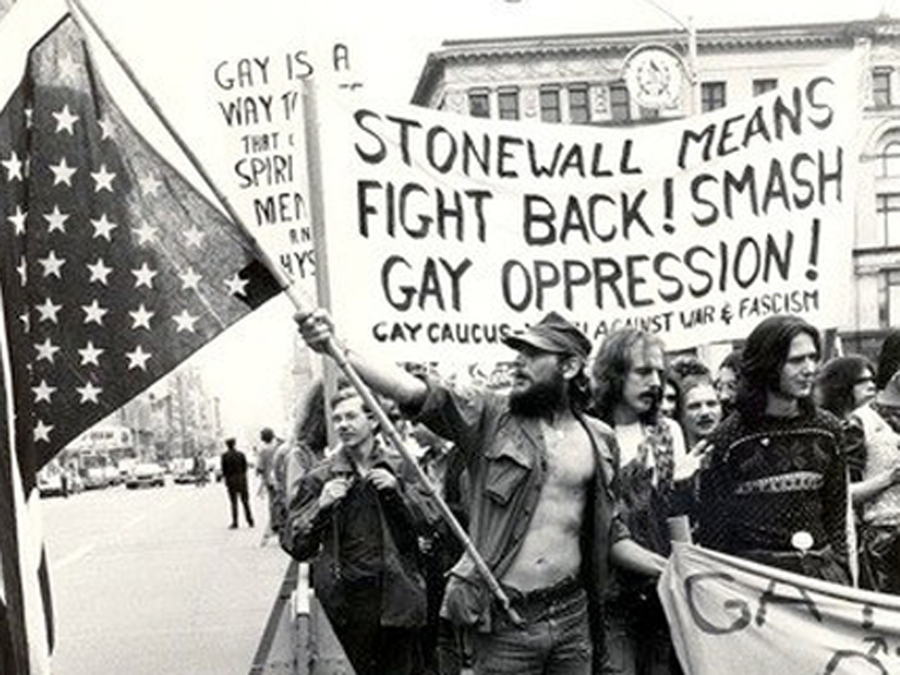 A Protest following the Stonewall Riots