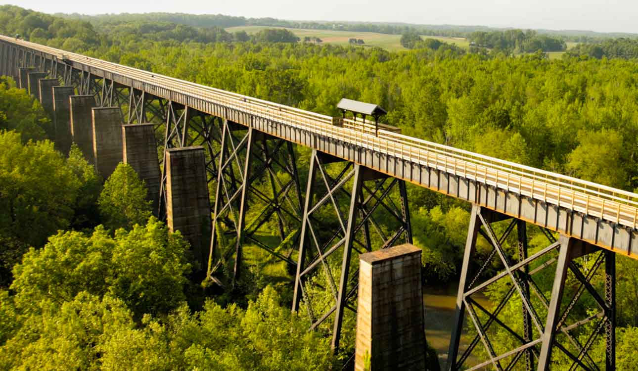 Rail-trail bridge in Virginia