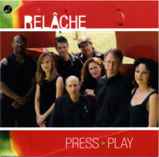 PRESS PLAY by the Relache Ensemble  http://www.meyer-media.com/  includes my composition,  When the Spirit Catches You . .  . Meyer Media, LLC (MM06004)  Listen to (and watch) the multimedia version, performed at the American Epilepsy Society Conference:  https://www.youtube.com/watch?v=ed33frlomKc&list=FLF7NG3fLf4j8KXlejwHKm5w