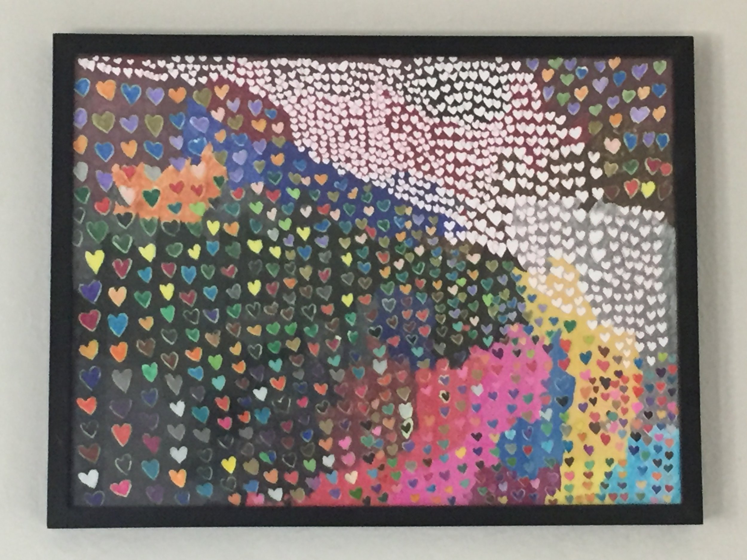 Lydia Thompson: Painting. RIVER OF HEARTS, which appeared on the Epilepsy & Behavior Journal in 2017. Her painting was used as a background for several pages of my website.