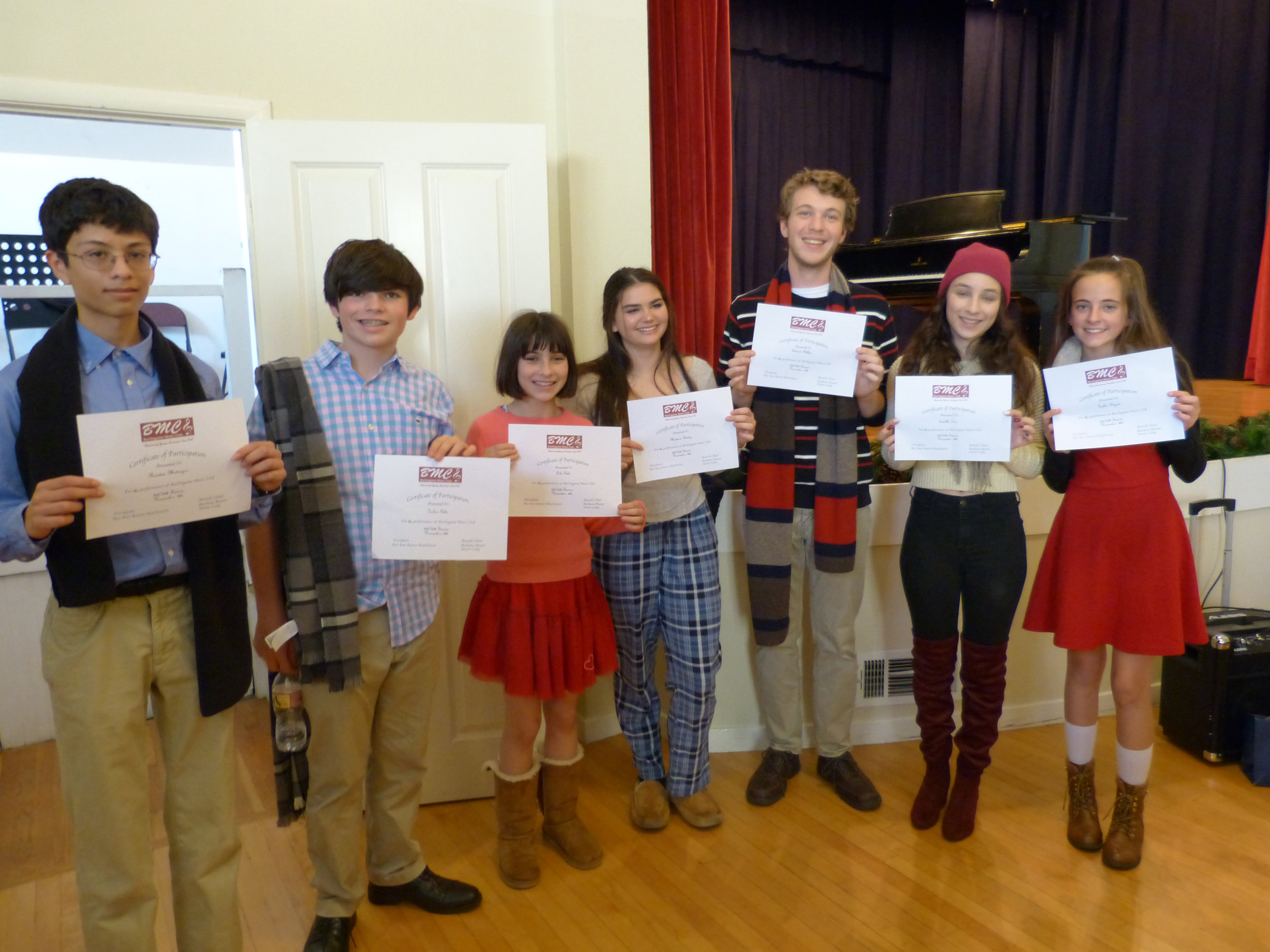 Enjoy our student performers. Help us celebrate their achievements! -