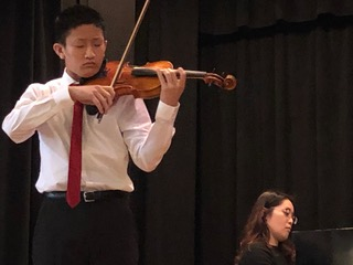 Matthew Sakiyama - Patron of the Arts - 2nd PrizeMatthew has won numerous prizes including first place in the Pacific Musical Society, the U.S. Open and the U.S. International competitions. He is a member of the Stellata String Quartet, a group within Susan Bates' Young Chamber Musicians.Matthew's teacher is Elbert Tsai