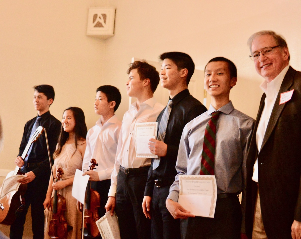 2019 Winners Final Performance - All of our winning students gave a wonderful performance at the last member meeting in May. Our winners were joined by Kai and Leo's teacher, Dr. William Wellborn. Congratulations to all our talented students and teachers!