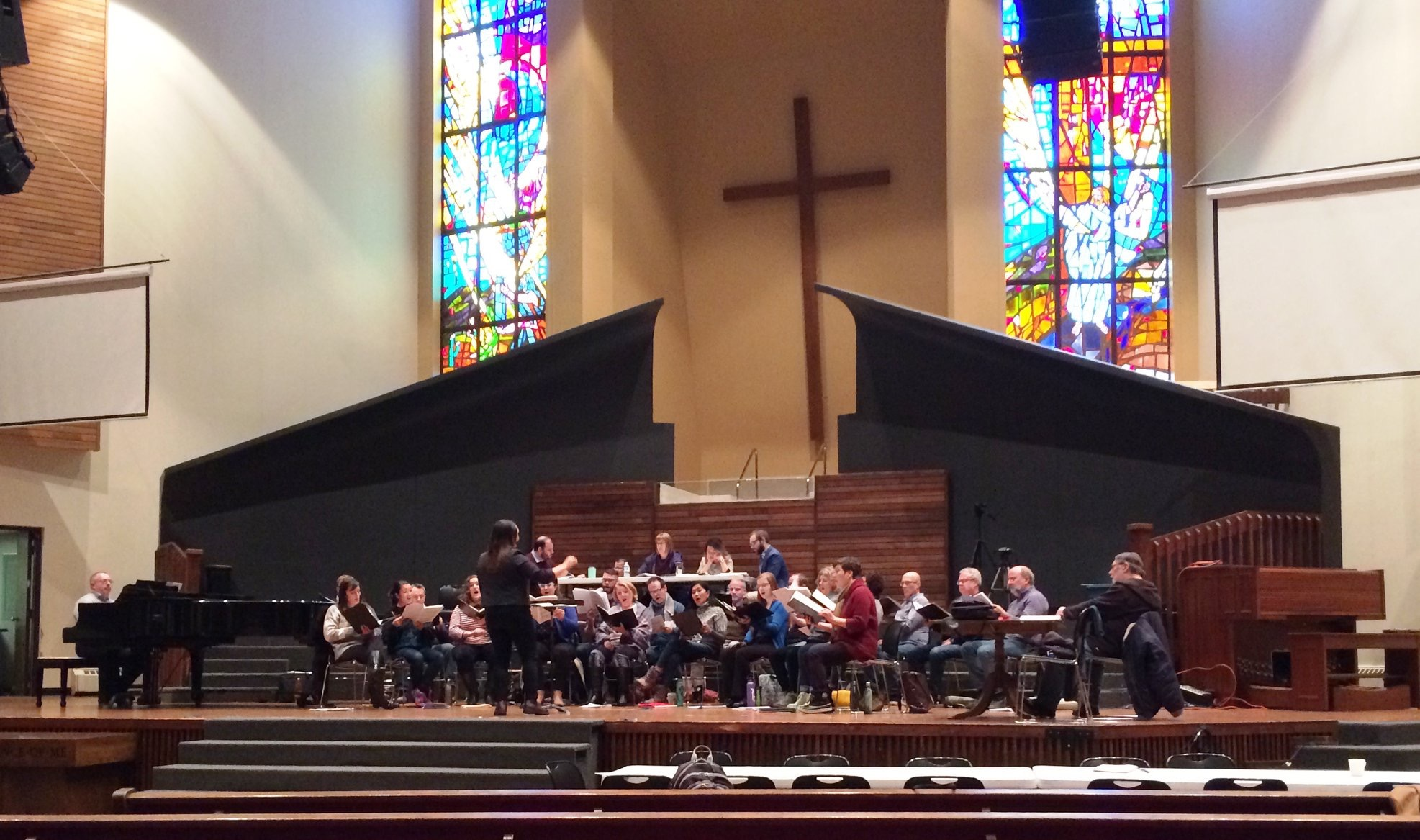 Working with the Vancouver Chamber Choir February 2019