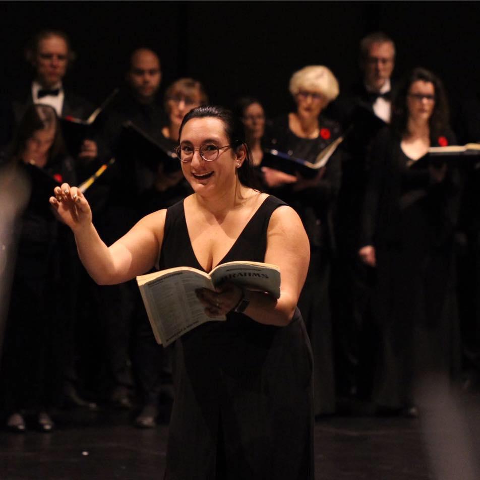 Warming up Chorus Niagara before Brahm's Requiem - 2018