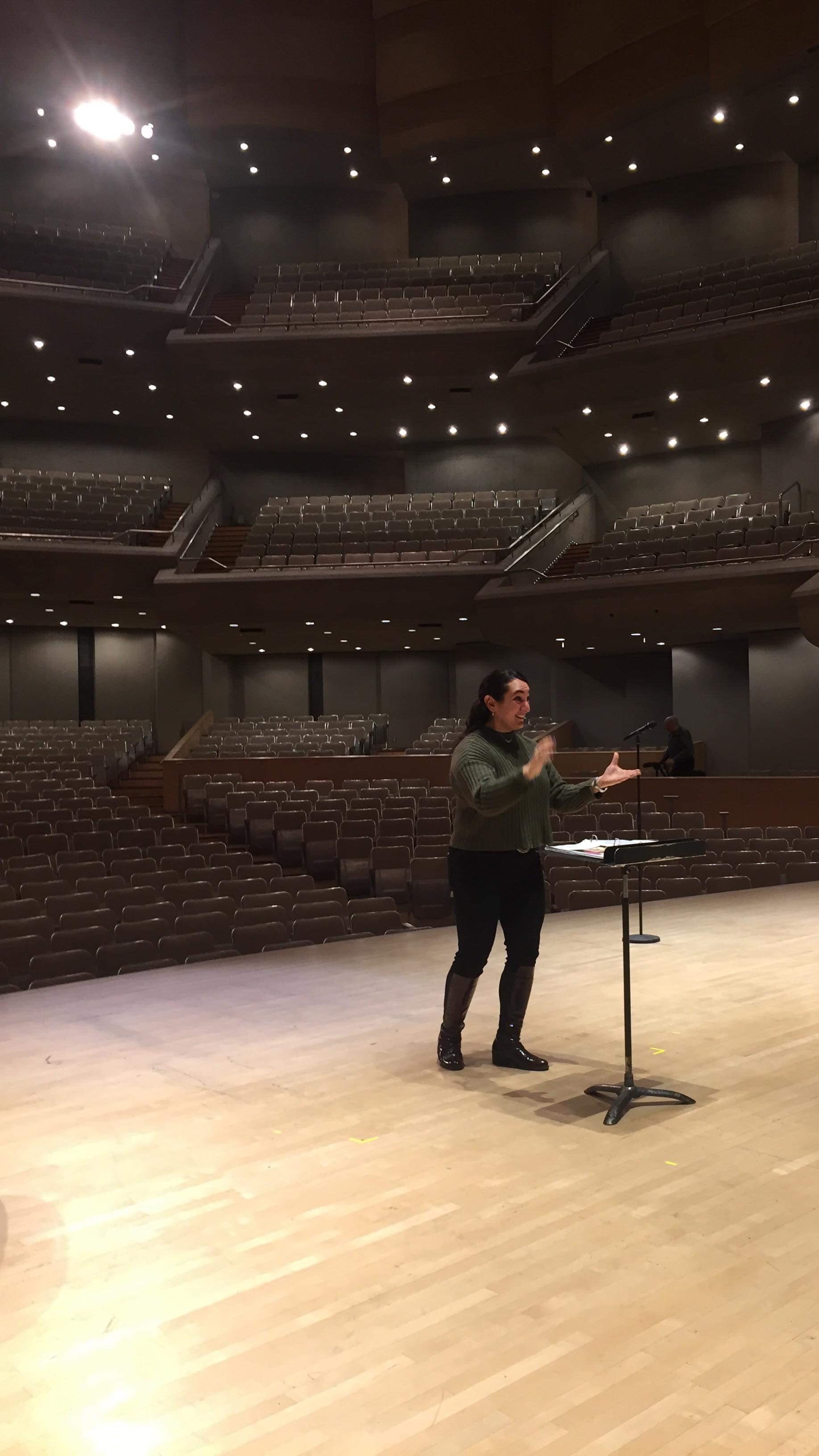 With Orpheus Choir of Toronto at Roy Thompson Hall - Christmas 2018